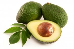 Ripe Organic Avocado on white background