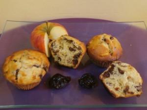 muffins pommes pruneaux